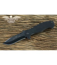 มีดพับ Emerson Mini CQC-15 Folding Knife Black Plain Blade, G10 Handles (MC15-BT)