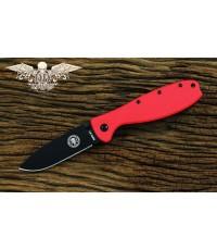 มีดพับ ESEE Zancudo Black Blade, Red FRN and Stainless Steel Handles (BRKR1RB)