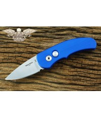 มีดออโต้ Pro-tech Runt J4 Automatic Knife Blue Handle, Satin Plain (4412)