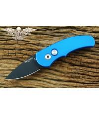 มีดออโต้ Pro-tech Runt J4 Automatic Knife Blue Handle, Black Plain(4416)