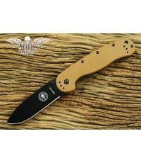 มีดพับ ESEE Avispa Black AUS-8 Blade, Coyote FRN and Stainless Steel Handles (BRK1301CBB)