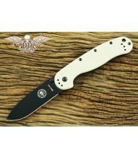 มีดพับ ESEE Avispa Black AUS-8 Blade, Desert Tan FRN and Stainless Steel Handles (BRK1301DTB)