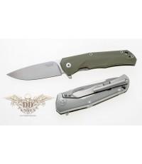 มีดพับ LionSteel T.R.E. Three Rapid Exchange M390 Blade, Green G10/Matte Titanium Handle (TRE GGR)