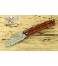 มีดพับ Mcusta Take Knife Seki Japan Damascus Cocobolo Handle (MC-0074D)