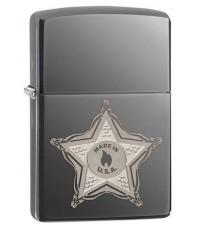ไฟแช็ค Zippo Skull Badge Black Ice (28360)