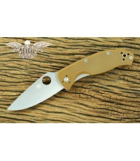 มีดพับ Spyderco Brown Tenacious Plain Blade, G10 Handles Limited Edition (C122GPBN)