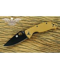 มีดพับ Spyderco Brown Tenacious Black Plain Blade, G10 Handles Limited Edition (C122GPBBN)