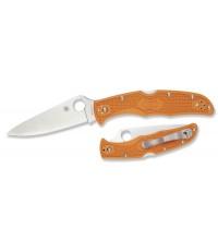 มีดพับ Spyderco Endura HAP40/SUS 410 Plain Blade, Burnt Orange FRN Handles, Sprint Run (C10FPBORE)