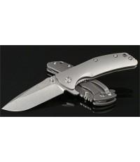 มีดพับ Kizer Cutlery Ki3404A3 Activ Bantam Flipper S35VN Stonewashed Blade, Matte Titanium Handles