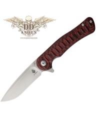 มีดพับ Kizer Cutlery Vanguard Matt Cucchiara Dukes VG10 Satin Blade, Red/Black G10 Handles (V3466A2)
