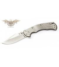 มีดพับ Kizer Cutlery River Cat Flipper S35VN Blade, Titanium Handles (Ki4456A1)