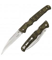 มีดพับ Cold Steel Frenzy I Folding Knife CTS-XHP Plain Blade, Green/Black G10 Handles (62PV1)