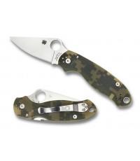 มีดพับ Spyderco Para 3 Folding Knife S30V Satin Plain Blade, Digital Camo G10 Handles (C223GPCMO)