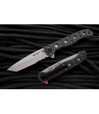 มีดพับ CRKT Carson Flipper Satin Combo Tanto Blade, Black GFN Handles (M16-10Z)