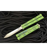 มีดบาลิซอง BRS Premium Replicant ALT Balisong Butterfly Knife, Green G-10/Blue