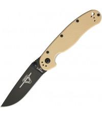 มีดพับ Ontario RAT Model 2 Folding Knife D2 Black Plain Blade, Desert Tan Nylon Handles (8830DT)