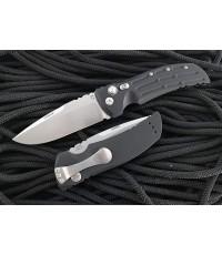 มีดออโต้ Hogue EX-A01 AUTO Folding Knife Drop Point Blade, Black Aluminum Handles (34116)