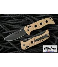 มีดพับ Benchmade Adamas Folding Knife, Black D2 Plain Blade, Desert Tan G10 Handles (275BKSN)