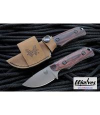 มีดใบตาย Benchmade Hunt Hidden Canyon Hunter S30V Blade, Dymondwood Handles, Leather Sheath(15016-2)