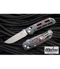มีดพับ Benchmade Saibu AXIS Folding Knife 20CV Satin Plain Blade, Black G10/Cocobolo Handles (486)