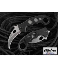 มีดคารัมบิท Emerson Folding Super Karambit Stonewash Blade, Black G10 Handles (SKAR-SF)