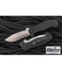 มีดพับ Emerson Mini CQC-15 Folding Knife Stonewash Plain Blade, G10 Handles (MC15-SF)