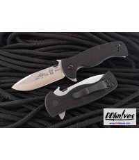 มีดพับ Emerson Sheepdog Spear Point Flipper Stonewashed Plain Blade, Black G10 Handles (SHPDG-SF)