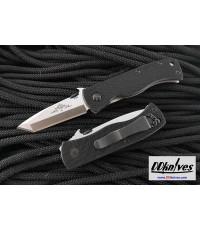 มีดพับ Emerson Mini CQC-7BW Folding Knife Tanto Plain Blade, Black G10 Handles (MC7BW-SF)