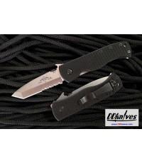 มีดพับ Emerson CQC-7BW Folding Knife Stonewash Combo Tanto Blade with Wave, G10 Handles (C7BW-SFS)