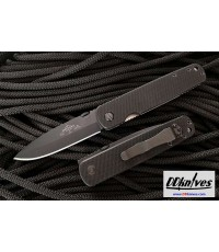 มีดพับ Emerson A-100 Folding Knife Black Plain Blade, Black G10 Handles (A100-BT)