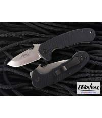 มีดพับ Emerson CQC-14 Snubby Folding Knife Stonewash Plain Blade, Black G10 Handles (C14-SF)