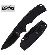 มีดพับ Cold Steel American Lawman Folding Knife S35VN Black DLC Blade, G10 Handles (58B)