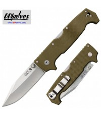 มีดพับ Cold Steel SR1 Folding Knife S35VN Clip Point Blade, OD Green G10 Handles (62L)