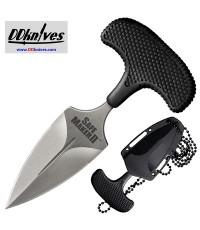 มีดชก Cold Steel Safe Maker II Push Dagger AUS-8 Blade, Kray-Ex Handle, Secure-Ex Sheath (12DCST)