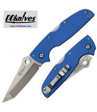 มีดพับ Cold Steel Khan Folding Knife Tanto Blade, Blue G10 Handles (54T)