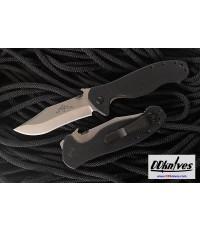มีดพับ Emerson Patriot Folding Knife Stonewash Plain Blade with Wave, Black G10 Handles (PTRT-SF)