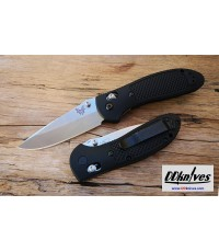 มีดพับ Benchmade Griptilian Folding Knife S30V Satin Drop Point Plain Blade, Black Handles (551-S30V