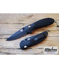 มีดพับ Benchmade Griptilian S30V Black Drop Point Plain Blade, Black Handles (551BK-S30V)