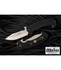 มีดพับ Emerson Tiger Folding Knife Stonewashed Plain Blade with Wave, Black G10 Handles (TIGER-SF)