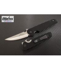 มีดพับ Emerson Tactical Kwaiken Folding Knife Stonewashed Plain Blade, Black G10 Handles (KWKN-SF)