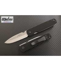มีดพับ Emerson A-100 Folding Knife Stonewashed Plain Blade, Black G10 Handles (A100-SF)