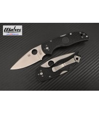 มีดพับ Spyderco Native 5 Folding Knife S30V Satin Plain Blade, Black FRN Handles (C41PBK5)