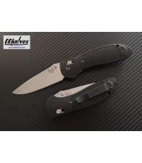 มีดพับ Benchmade Griptilian Folding Knife S30V Satin Drop Point Plain Blade, Black Handles(551-S30V)