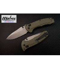 มีดพับ Benchmade Turret Folding Knife S30V Satin Plain Blade, Olive Drab G10 Handles (980)