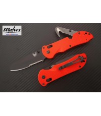 มีดพับ Benchmade Triage Rescue Knife Black Combo Blunt Tip Blade, Orange G10 Handles (916SBK-ORG)