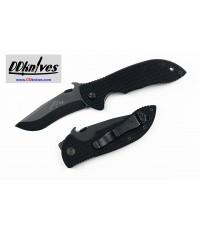 มีดพับ Emerson Mini Commander Folding Knife Black Plain Blade with Wave, Black G10 Handles (MCOM-BT)