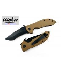 มีดพับ Emerson Mini Commander Special Edition Black Plain Blade, Desert Tan G10 Handles (MCOM-BT)