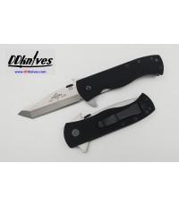 มีดพับ Emerson CQC-7F-SF Flipper S35VN Stonewash Tanto Blade with Wave, Black G10 Handles (C7F-SF)