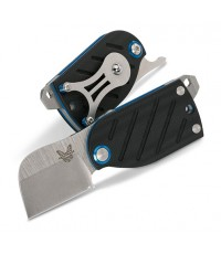 มีดพับ Benchmade Aller Friction Folding Knife, S30V Satin Plain Blade, Black G10 Handles (380)