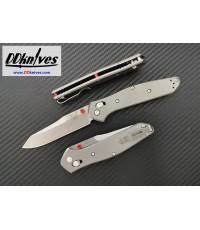 มีดพับ Benchmade Osborne Limited Edition S90V Satin Plain Blade, Gray Titanium Handles (940-2001)